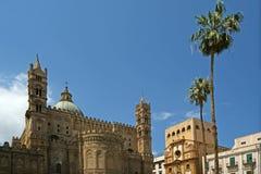 De kathedraal van PalermoSicily, zuidelijk Italië. Stock Foto's