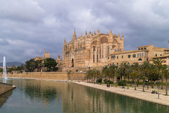 De kathedraal van Palma de Majorca Stock Afbeeldingen