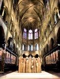 De kathedraal van Parijs Notre Dame Stock Foto's