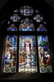De Kathedraal van Petropolis van het Venster van het gebrandschilderd glas stock afbeelding