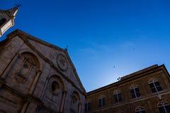 De Kathedraal van Pienza royalty-vrije stock fotografie