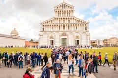 De Kathedraal van Pisa in Italië Stock Foto's
