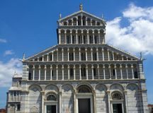 De Kathedraal van Pisa in Piazza dei Miracoli Stock Fotografie