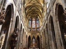 De kathedraal van Praag stock afbeeldingen