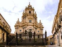 De Kathedraal van Ragusa Ibla van San Giorgio Royalty-vrije Stock Fotografie