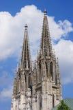 De Kathedraal van Regensburg Stock Foto's