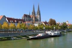 De Kathedraal van Regensburg, Duitsland Stock Foto's
