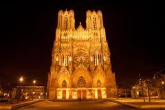 De Kathedraal van Reims royalty-vrije stock afbeelding