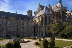 De Kathedraal van Reims, Frankrijk royalty-vrije stock fotografie
