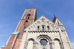 De kathedraal van Ribe in Denemarken royalty-vrije stock afbeeldingen