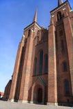 De Kathedraal van Roskilde, Denemarken. Stock Foto