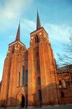 De Kathedraal van Roskilde, Denemarken. Stock Fotografie