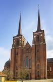 De Kathedraal van Roskilde, Denemarken royalty-vrije stock foto