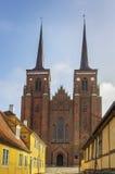 De Kathedraal van Roskilde, Denemarken stock afbeelding
