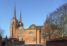 De Kathedraal van Roskilde, Denemarken stock afbeeldingen
