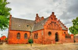 De Kathedraal van Roskilde, een Unesco-Erfenisplaats in Denemarken Royalty-vrije Stock Afbeelding