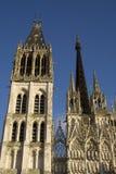 De kathedraal van Rouen Stock Foto's