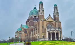 De Kathedraal van Sacrecoeur in Brussel, België stock foto's