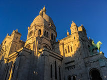 De kathedraal van Sacrecoeur, Montmartre, Parijs, Frankrijk Royalty-vrije Stock Foto's