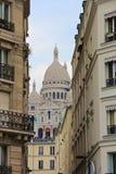 De Kathedraal van Sacrecoeur in Parijs, Frankrijk Stock Foto