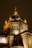 De Kathedraal van Saint Paul bij Nacht stock afbeeldingen