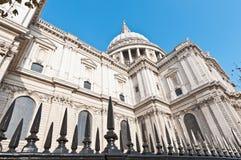 De Kathedraal van Saint Paul in Londen, Engeland Stock Foto