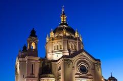 De Kathedraal van Saint Paul onder Blauwe Hemel stock fotografie