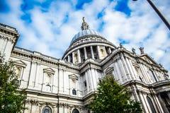 De Kathedraal van Saint Paul ` s in Londen, Engeland royalty-vrije stock afbeelding