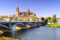 De kathedraal van Salamanca Stock Foto