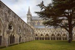 De Kathedraal van Salisbury, Anglicaanse kathedraal in Salisbury, Engeland royalty-vrije stock foto