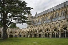 De Kathedraal van Salisbury, Anglicaanse kathedraal in Salisbury, Engeland stock foto