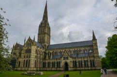 De Kathedraal van Salisbury, Wiltshire Stock Afbeelding