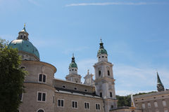 De kathedraal van Salzburg Royalty-vrije Stock Afbeelding