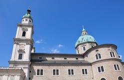 De Kathedraal van Salzburg stock fotografie