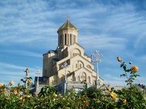 De kathedraal van Sameba in Tbilisi Royalty-vrije Stock Afbeeldingen