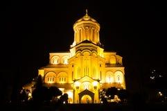 De kathedraal van Sameba, Tbilisi Royalty-vrije Stock Fotografie