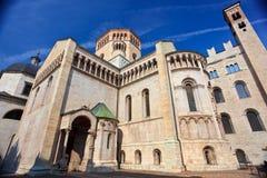 De kathedraal van San Vigilius van Trento Stock Foto's