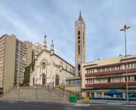 De Kathedraal van Santa Teresa D ` Avila - Caxias do Sul, Rio Grande doet Sul, Brazilië stock foto's
