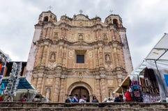 De Kathedraal van Santo Domingo, Mexico Stock Afbeeldingen