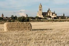 De Kathedraal van Segovia in Castilla y Leà ³ n, laatste Gotisch kathedraal ingebouwd Spanje royalty-vrije stock foto