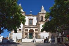 De Kathedraal van Setubal, St Mary van Gunst portugal royalty-vrije stock afbeeldingen