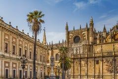De kathedraal van Sevilla, Spanje royalty-vrije stock afbeeldingen