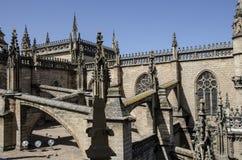 De Kathedraal van Sevilla, Spanje, Europa Stock Afbeelding