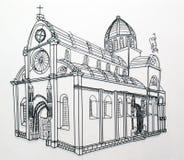 De Kathedraal van Sibenik stock foto's