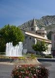 De kathedraal van Sisterone, Frankrijk Stock Afbeelding