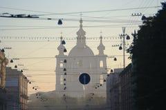 De kathedraal van Smolny stock afbeelding
