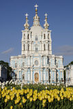 De Kathedraal van Smolny in heilige-Petesburg, Rusland Royalty-vrije Stock Foto's