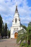 De Kathedraal van St Aartsengel Michael in Sotchi in het Zuiden van Stock Fotografie
