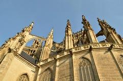 De Kathedraal van St Barbara Church in Kutnà ¡ Hora, Tsjechische Republiek Stock Foto