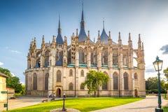De Kathedraal van St Barbara in Kutna Hora, Tsjechische Republiek royalty-vrije stock fotografie
